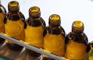 Cough Syrup bottles in a row