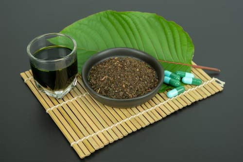 Kratom in various forms
